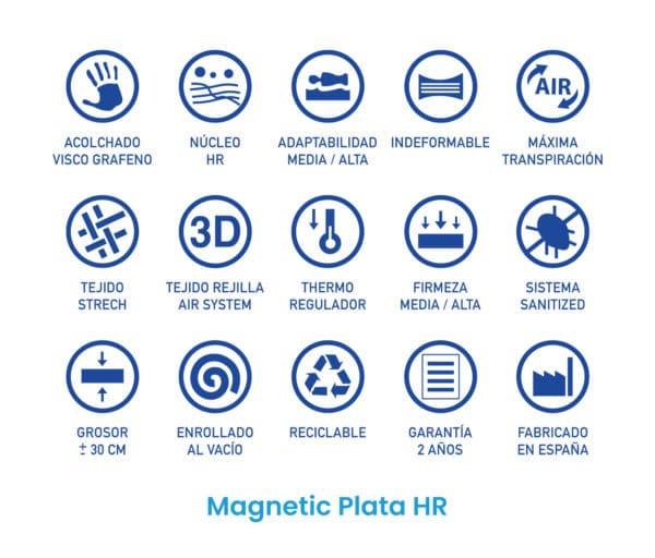 Colchón Magnetic Plata