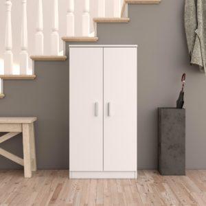 zapatero blanco de 2 puertas